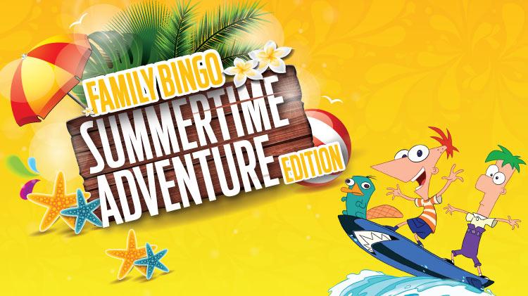 Family Bingo - Summertime Adventure Edition