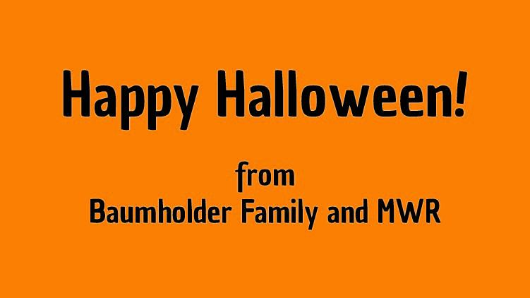 Happy Halloween!  AFN Radio Recap: October 3