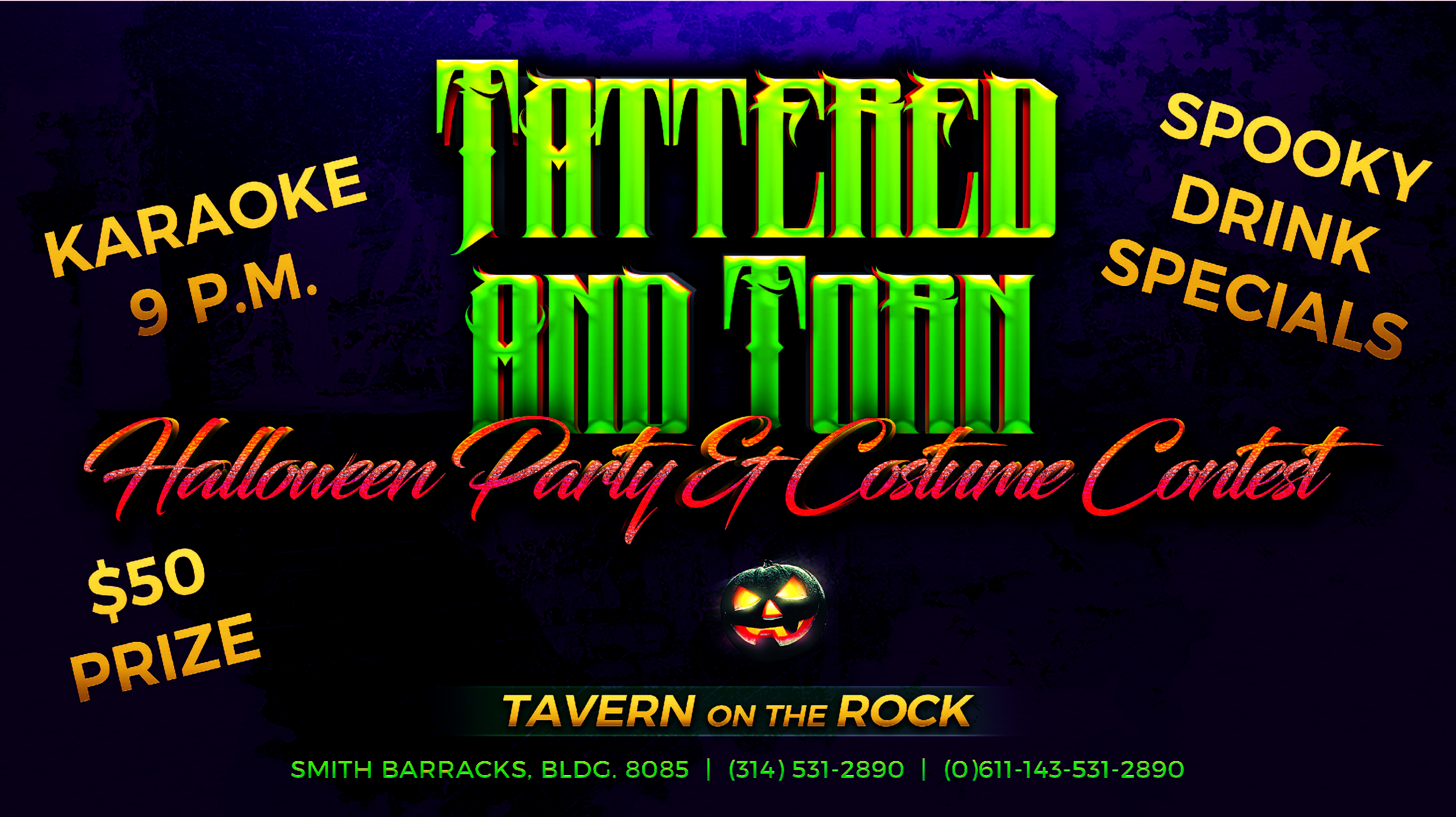 Tattered and Torn Halloween Costume Party & Contest