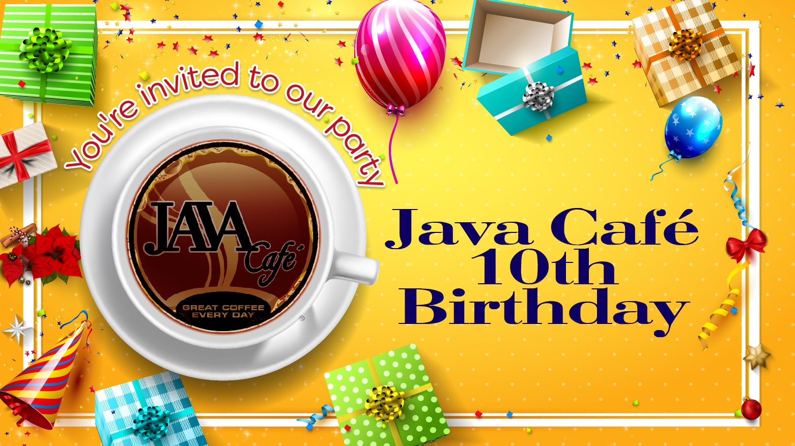 Java Cafe 10th Birthday Party